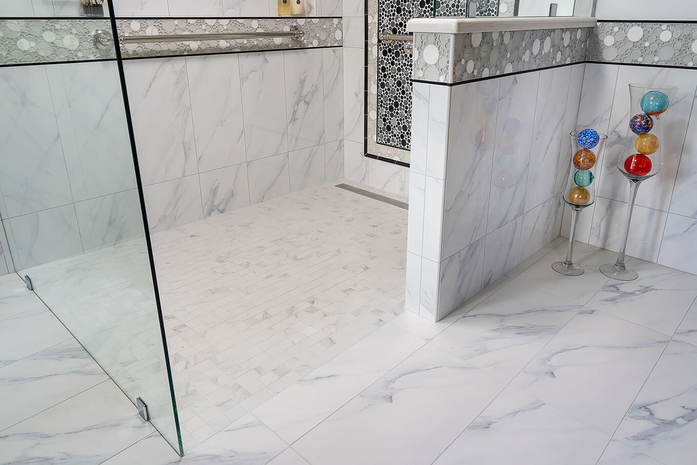 Lenton Company - white marble bathroom